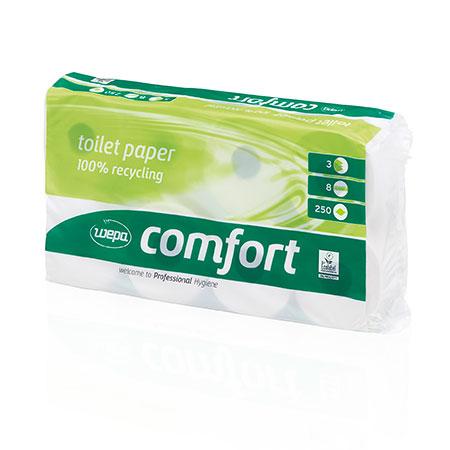 Toilettenpapier Tissue, 3lag., hochweiß